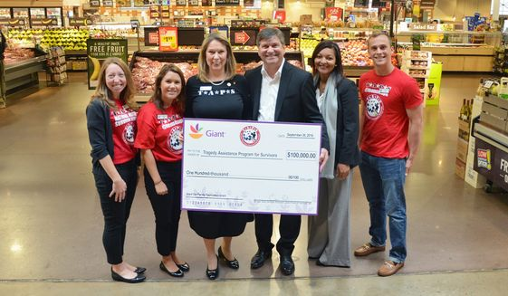 """The Tragedy Assistance Program for Survivors (TAPS), which offers """"compassionate care"""" to those grieving the death of a loved one serving in armed forces, has received strong support from Giant Food. Image courtesy of Giant Food Inc."""