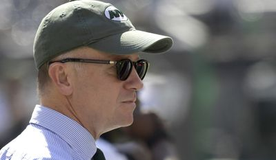 New York Jets owner Christopher Wold Johnson looks on before an NFL football game against the Miami Dolphins Sunday, Sept. 24, 2017, in East Rutherford, N.J. (AP Photo/Bill Kostroun)