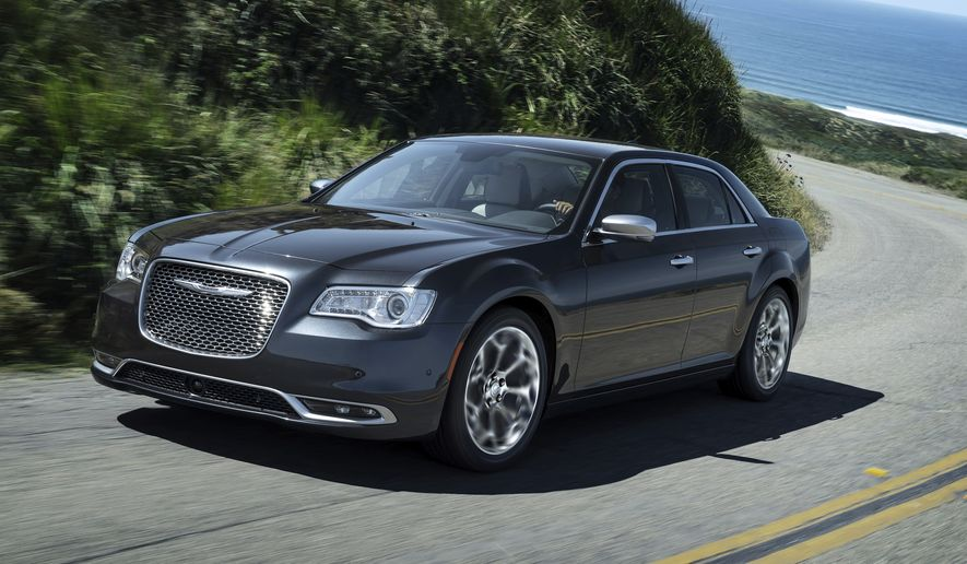 This photo provided by Fiat Chrysler shows the 2018 Chrysler 300. (Courtesy of Fiat Chrysler Automobiles North America via AP) ** FILE **