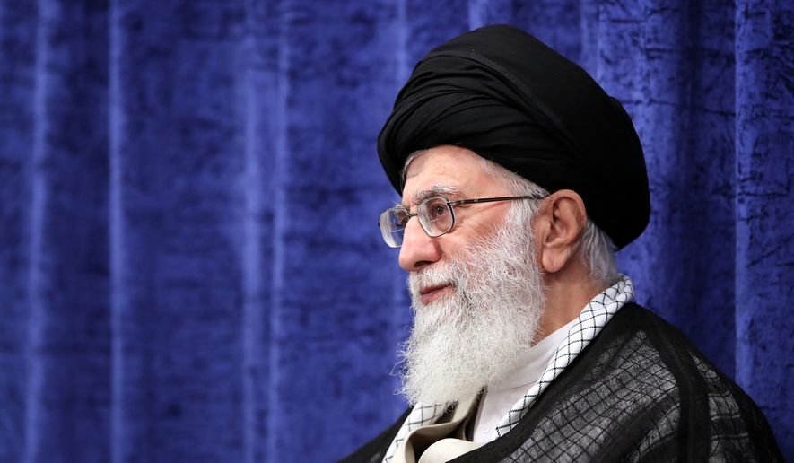 Iranian Supreme Leader Ayatollah Ali Khamenei sent a message this week to Russian President Vladimir Putin: Do not make a deal with President Trump or your forces in Syria may suffer. (Associated Press/File)