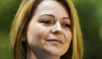 Yulia Skripal poses for the media during an interview in London, Wednesday May 23, 2018. Yulia Skripal says recovery has been slow and painful, in first interview since nerve agent poisoning. (Dylan Martinez/Pool via AP)