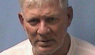 This image provided by the Linden (N.J.) Police Department shows Lenny Dykstra. Police say former Major League Baseball star Lenny Dykstra put a gun to his New Jersey Uber driver's head when the driver declined to change the trip's destination. Linden police say Dykstra was arrested early Wednesday, May 23, 2018 outside police headquarters after the driver stopped and ran out of the car. (Linden (N.J.) Police Department via AP)