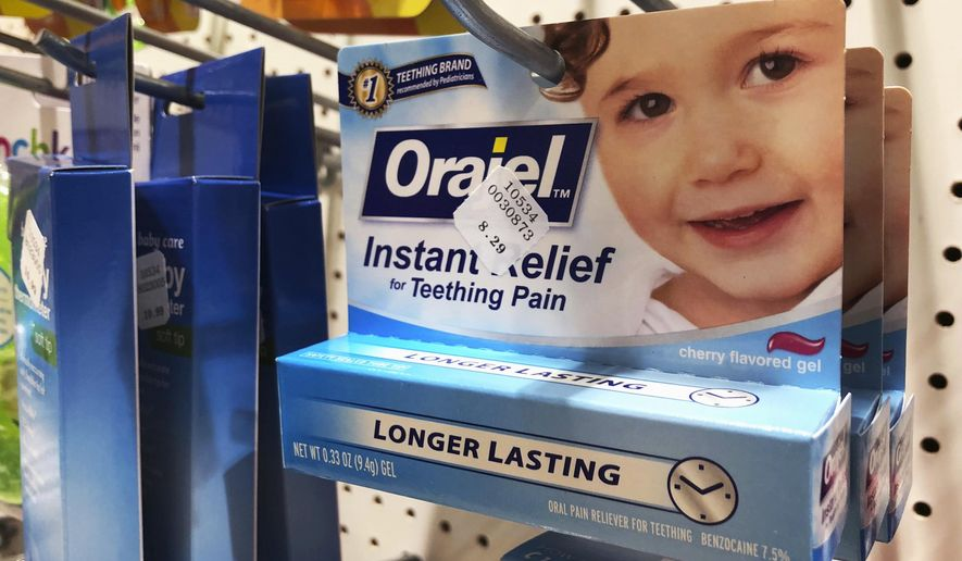 Orajel Is Displayed For Sale In A Pharmacy In New York