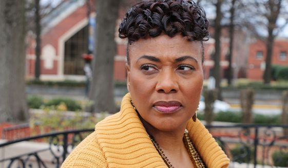 In this Jan 10, 2018, file photo, Bernice King poses for a photograph at the King Center, in Atlanta.. (AP Photo/Robert Ray) ** FILE **