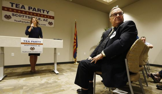 Some conservatives have suggested former Maricopa Country Sheriff Joe Arpaio drop out in order to clear a path for Kelli Ward. (AP Photo/Ross D. Franklin)