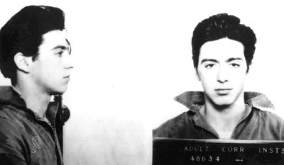 Actor Al Pacino is seen in this 1961 mugshot after he was arrested and charged with carrying a concealed weapon in Woonsocket, R.I.  (AP Photo/St. Martin's Press)