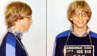 Bill Gates was arrested by the Albuquerque, New Mexico police in 1977 after a traffic violation