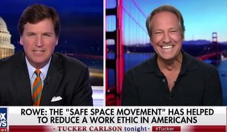 """Mike Rowe of """"Dirty Jobs"""" and """"Somebody's Gotta Do It"""" fame sat down with Fox News' Tucker Carlson on May 24, 2018, to talk about changes to American culture. (Image: Fox News screenshot)"""