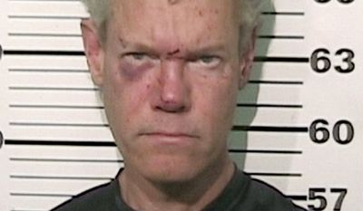 Randy Travis suffered cuts and bruises when he crashed his car, and was arrested shortly after on suspicion of driving while intoxicated near Tioga, Texas, 60 miles north of Dallas.