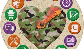 More Job Options for Military Spouses Illustration by Greg Groesch/The Washington Times