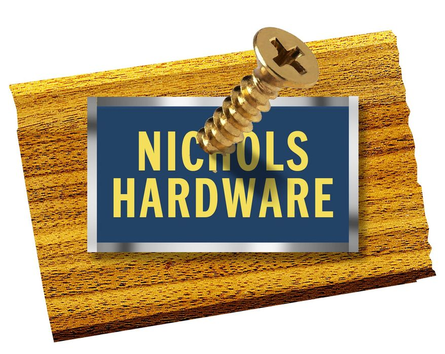 Illustration on the hysterical persecution of Nichols Hardware by Alexander Hunter/The Washington Times