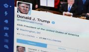 This April 3, 2017, file photo shows U.S. President Donald Trump's Twitter feed on a computer screen in Washington. (AP Photo/J. David Ake, File) **FILE**