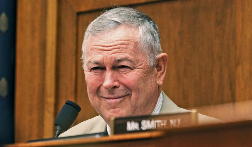 FILE - In this June 14, 2016, file photo, Rep. Dana Rohrabacher, R-Calif., participates in a House Foreign Affairs Committee hearing on Russia on Capitol Hill in Washington. Twenty-three years ago, Scott Baugh was a little known Southern California lawyer whose conservative politics and youthful brio impressed Rohrabacher, who steered his new protege to a seat in the state Legislature. Now, Baugh wants the congressman's job. (AP Photo/Paul Holston, File)