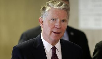 In this March 1, 2018, file photo, New York District Attorney Cyrus Vance arrives to the start of a trial in New York. (AP Photo/Seth Wenig, File)