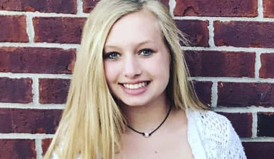 This undated file photo provided by the Whistler family shows Ella Whistler. Whistler was shot in a classroom Friday, May 25, 2018, at Noblesville West Middle School in Noblesville, Ind., near Indianapolis. (Whistler family via AP, File)