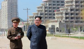 FILE - In this undated file photo provided on Saturday, May 26, 2018, by the North Korean government, North Korean leader Kim Jong Un inspects the construction site of the Wonsan-Kalma coastal tourist area in Gangwon-do, North Korea. The U.S.-North Korea summit appears to be back on track, but Pyongyang is showing increased impatience at comments coming out of Washington that what Kim really wants, even more than his nuclear security blanket, is American-style prosperity. Independent journalists were not given access to cover the event depicted in this image distributed by the North Korean government. (Korean Central News Agency/Korea News Service via AP, File)