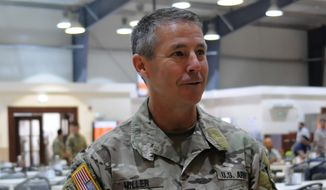Lt. Gen. Scott Miller, the Commander of the Joint Special Operations Command (U.S. Army photo by Sgt. 1st Class Whitney Hughes, USARCENT PAO).