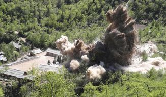 As a goodwill gesture, North Korea destroyed the Punggye-ri nuclear test site in the presence of foreign press last month. (Associated Press/File)