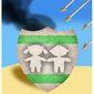Illustration on Hamas' use of human shields by Alexander Hunter/The Washington Times