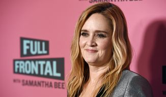 "In this May 24, 2018, file photo, Samantha Bee, host of ""Full Frontal with Samantha Bee,"" poses at an Emmy For Your Consideration screening of the television talk show at the Writers Guild Theatre in Beverly Hills, Calif. Bee is under fire for referring to Ivanka Trump as a ""feckless c--t"" on her TBS comedy show. White House press secretary Sarah Sanders on Thursday called Bee's language ""vile and vicious."" (Photo by Chris Pizzello/Invision/AP, File)"