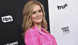 "FILE - In this May 16, 2018 file photo, television host Samantha Bee attends the Turner Networks 2018 Upfront at One Penn Plaza in New York.  Bee is apologizing to Ivanka Trump and her viewers for using an expletive to describe the president's daughter.  Bee issued a statement Thursday that says her language was ""inappropriate and inexcusable."" She says she crossed a line and deeply regrets it.  (Photo by Evan Agostini/Invision/AP, File)"