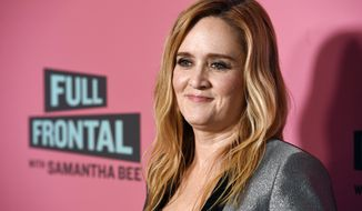 "In this May 24, 2018, file photo, Samantha Bee, host of ""Full Frontal with Samantha Bee,"" poses at an Emmy For Your Consideration screening of the television talk show at the Writers Guild Theatre in Beverly Hills, Calif. Bee is under fire for referring to Ivanka Trump as a ""feckless c---"" on her TBS comedy show. White House press secretary Sarah Sanders on Thursday called Bee's language ""vile and vicious."" (Photo by Chris Pizzello/Invision/AP, File)"