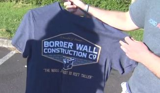 "U.S. District Judge Michael W. Mosman issued a restraining order on May 29, 2018, which prevents an Oregon high school from punishing a student for wearing pro-Trump ""border wall construction"" shirts. (Image: NBC-8 Portland screenshot) ** FILE **"