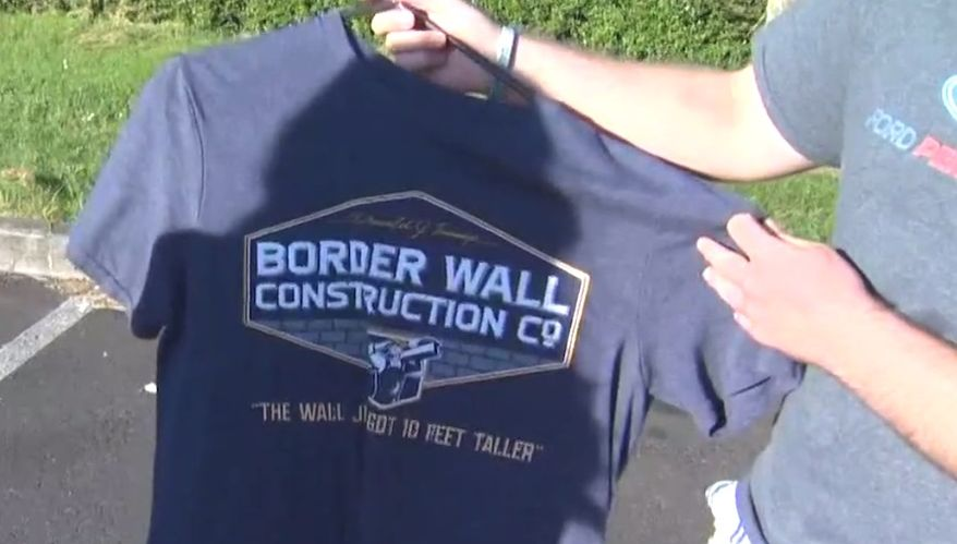 """U.S. District Judge Michael W. Mosman issued a restraining order on May 29, 2018, which prevents an Oregon high school from punishing a student for wearing pro-Trump """"border wall construction"""" shirts. (Image: NBC-8 Portland screenshot) ** FILE **"""
