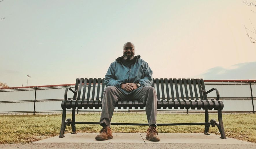 In this April 10, 2018 photo, Matthew Charles visits Shelby Park in Nashville, Tenn., days after finding out he will have to return to prison for another decade.   (Julieta Martinelli/Nashville Public Radio via AP)
