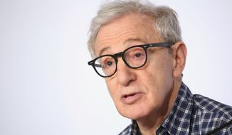 Director Woody Allen attends a press conference for the film Irrational Man, at the 68th international film festival, Cannes, southern France, Friday, May 15, 2015. (AP Photo/Thibault Camus)