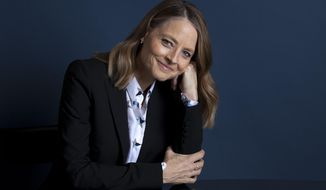 """In this May 20, 2018 photo, actress Jodie Foster poses at the Four Seasons Hotel in Los Angeles to promote her new film """"Hotel Artemis."""" Foster stars as the head of a hospital for criminals in the near-future set thriller opening nationwide on Friday, June 8. (Photo by Rebecca Cabage/Invision/AP)"""