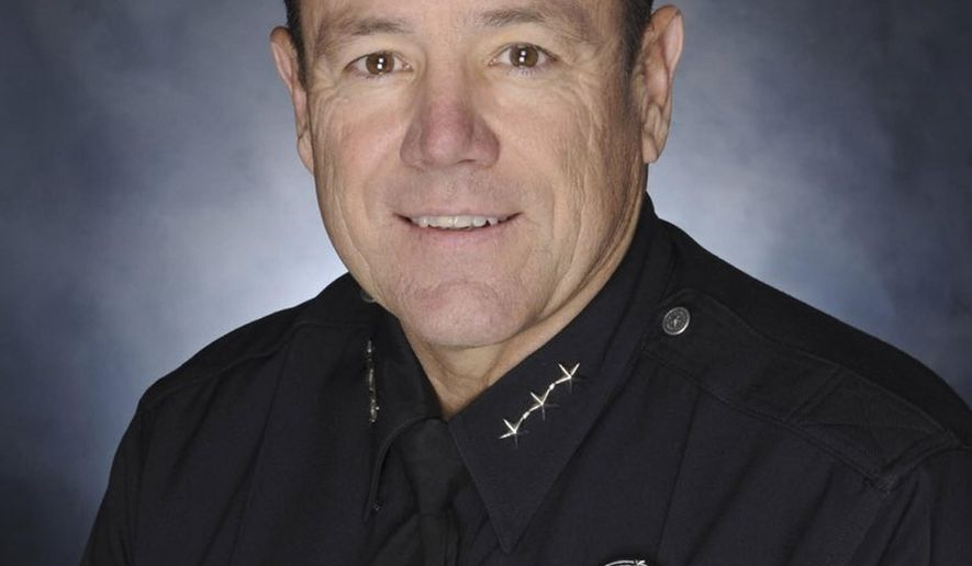 In this undated photo released by the Los Angeles Police Department (LAPD) shows Michel Moore, who has been chosen as the 57th Chief of Police of the city's police department. Los Angeles Mayor Garcetti named the former assistant chief Moore as the new chief of the LAPD on Monday, June 4, 2018. (Los Angeles Police Department via AP)