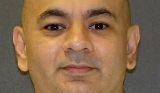 This photo provided by the Texas Department of Criminal Justice shows death-row inmate Carlos Trevino, of San Antonio. The U.S. Supreme Court on Monday, June 4, 2018, refused an appeal from Trevino on death row for the gang rape and fatal stabbing of a 15-year-old girl in 1996. (Texas Department of Criminal Justice via AP)