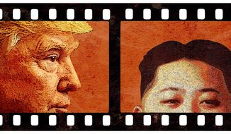 Movie Diplomacy Illustration by Greg Groesch/The Washington Times