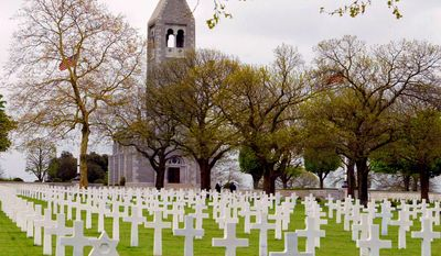 The American cemetery in Saint-James, France, where 4,410 American soldiers who died after the D-Day invasion in Normandy are buried.        Agence France-Presse photo