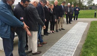 The Walkway to Victory in France will be composed of bricks engraved with the names of living and deceased World War II veterans. (Photo by Doug Stebleton)