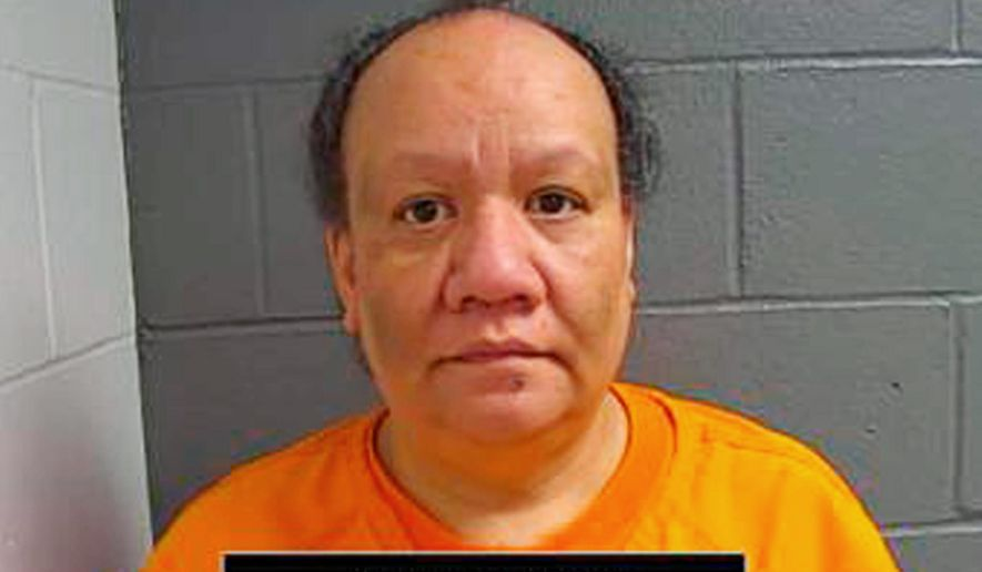 This June 5, 2018, photo provided by the Callaway County Sheriff's Office in Fulton, Mo., shows Sherry Paulo, of Fulton, one of five people charged Tuesday, June 5, 2018, in connection with the death of Carl DeBrodie, a developmentally disabled Missouri man whose body was found encased in concrete months after he disappeared. DeBrodie disappeared in 2016 and his body was found in April 2017 in a Fulton storage shed. (Callaway County Sheriff's Office via AP)