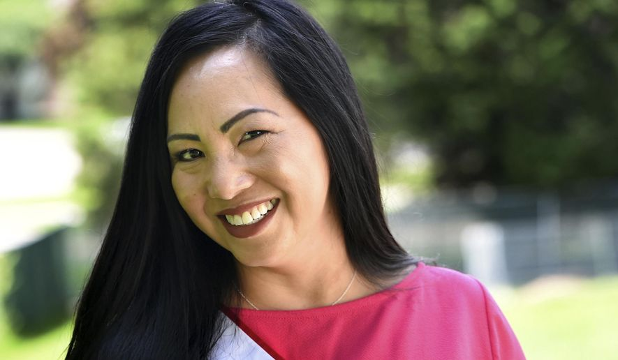 Kellie Chauvin is photographed in Oakdale, Minn. on Friday, June 1, 2018. Chauvin, 43, is vying to be the first Hmong Mrs. Minnesota America. (Jean Pieri /Pioneer Press via AP)