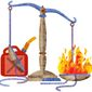 Gas on the Fire Illustration by Greg Groesch/The Washington Times