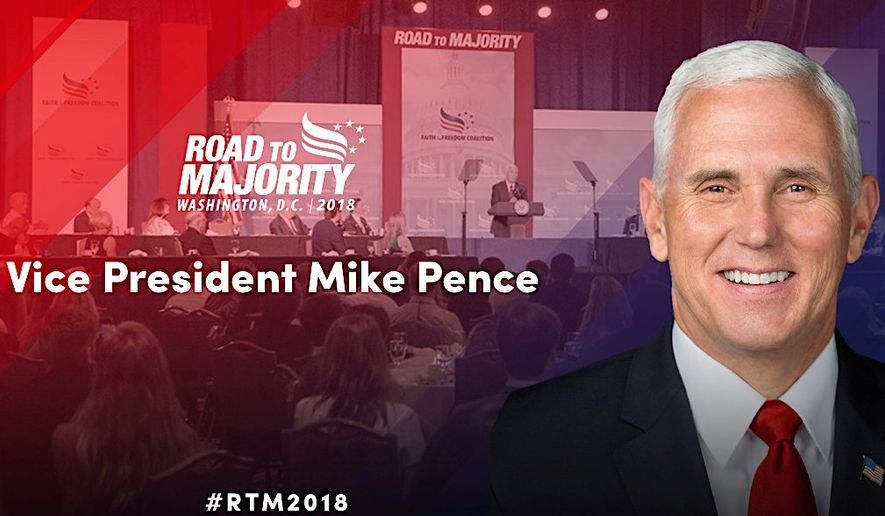 "The Faith & Freedom Coalition hosts its annual ""Road to Majority"" gathering this weekend and it features some high-profile guests. (Faith & Freedom Coalition)"