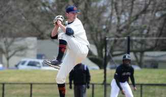 Bucknell pitcher and Alexandria native Connor Van Hoose was selected in the eighth round of the MLB Draft on Tuesday by the New York Yankees. (Courtesy of Bucknell Athletics)