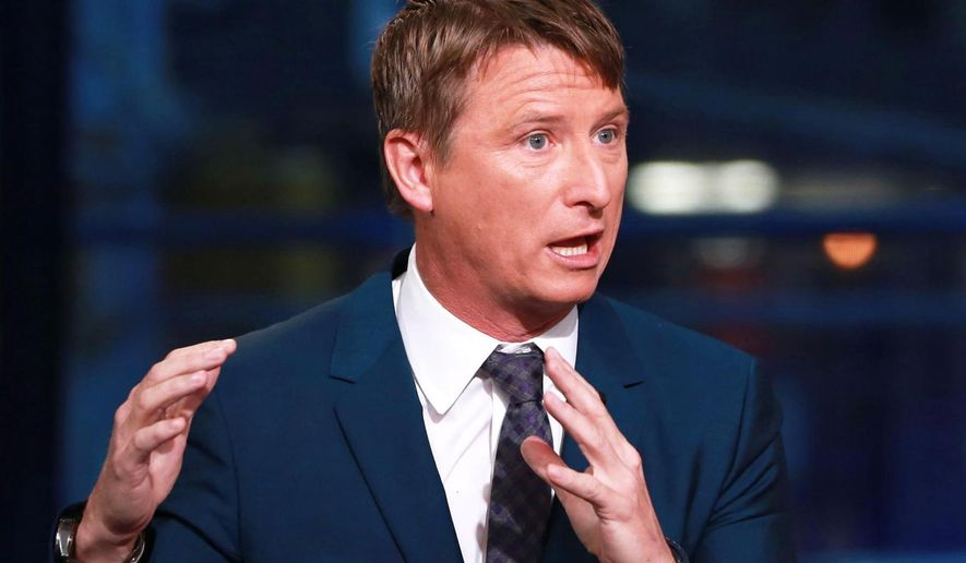 This undated photo provided by CNBC shows Jonathan Bush, co-founder, Chief Executive Officer, and President of athenahealth. Bush, the co-founder and CEO of athenahealth is stepping down and the medical software company is exploring a potential sale. Athenahealth Inc. said Wednesday, June 6, 2018, that Chairman Jeff Immelt, long-time chairman and CEO of General Electric Co., will become executive chairman. Chief Financial Officer Marc Levine will take on more responsibilities while the company searches for its next CEO. (Kate Rooney/CNBC via AP)