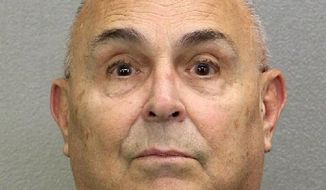 """FILE- In this undated booking file photo made available by the Broward County Sheriff's Office shows Anthony """"Big Tony"""" Moscatiello. A Florida appeals court has reversed the murder conviction of Moscatiello in the purportedly mob-connected slaying in 2001 of businessman Konstantinos """"Gus"""" Boulis. The 4th District Court of Appeal ruled Wednesday, June 6, 2018, that a statement admitted in Moscatiello's trial linking him to the alleged hit man was improper.  (Broward County Sheriff's Office via AP, File)"""