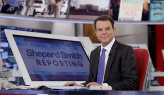 "FILE - In this Jan. 30, 2017, file photo, Fox News Channel chief news anchor Shepard Smith on The Fox News Deck before his ""Shepard Smith Reporting"" program, in New York. Smith's afternoon news program has always stood out at Fox News Channel, but perhaps never more so than lately. In the last week, Smith has called out the Trump administration for lying about a meeting involving the president's son, punctured claims about the FBI spying on the Trump campaign, dismissed the characterization of the Russian investigation as a witch hunt and resisted White House characterizations of the Super Bowl winning Philadelphia Eagles(AP Photo/Richard Drew, File)"