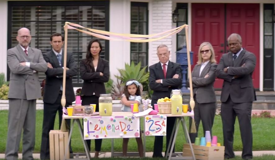 "Country Time Lemonade has started a ""Legal-Ade"" defense fun for children who face fines for running lemonade stands in the U.S. (Image: YouTube, Country Time)"