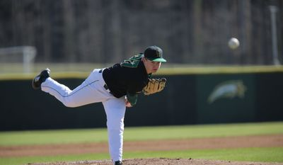 George Mason pitcher Zach Mort was taken in the eighth round on Tuesday by the Chicago Cubs. He is from Chesterfield, Virginia and went to Cosby High School. (Courtesy of George Mason University)
