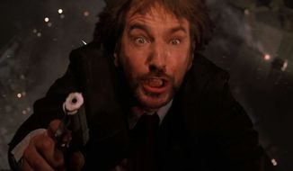 "Hans Gruber (Alan Rickman) in the original ""Die Hard"""