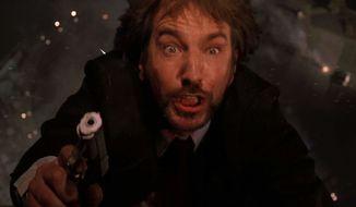 "Hans Gruber (Alan Rickman) in the original ""Die Hard"""