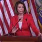 House Minority Leader Nancy Pelosi, D-Calif., talks about the economy during her weekly press conference, June 7, 2018. (Image: Facebook, Nancy Pelosi, live-stream screenshot)