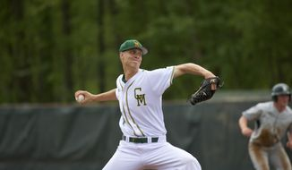 Right-handed Bryce Nightengale he was taken in the 16th round on Wednesday by the Oakland A's on the last day of three-day MLB draft. Nightengale played at Allegany High in western Maryland. (Courtesy of George Mason University)